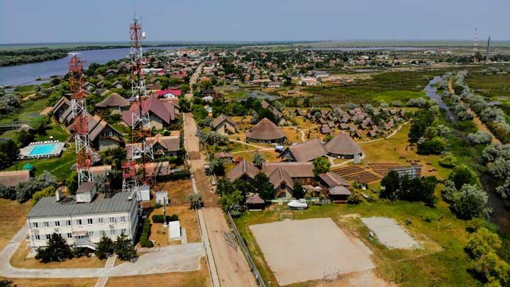 Localitatea Sfantu Gheorghe - foto din drona